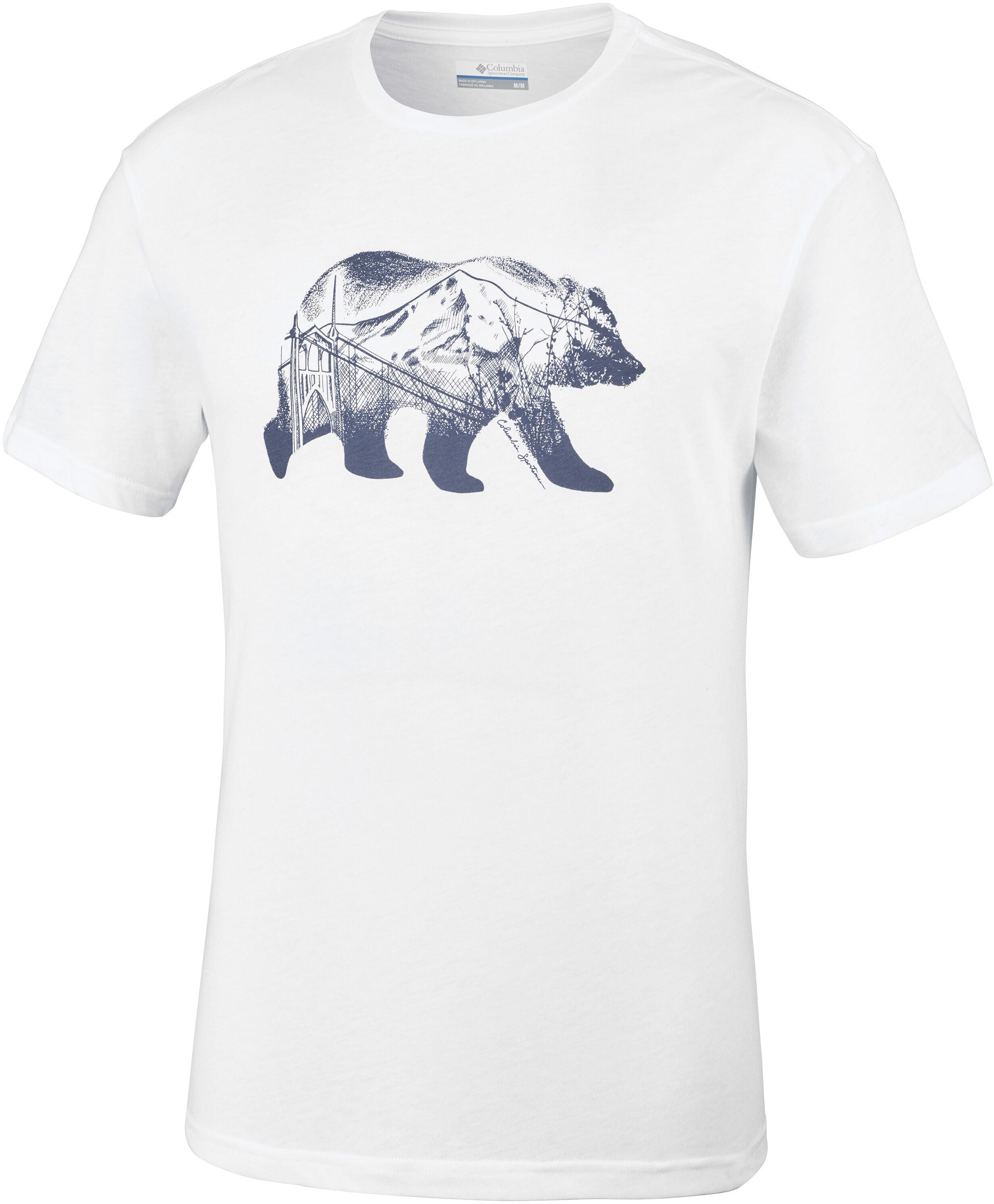 4a12e95c233c7 Columbia Baker Brook - Camiseta manga corta Hombre - blanco
